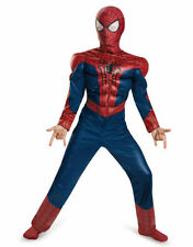 NEW SPIDER MAN 2 MOVIE MUSCLE CHEST HALLOWEEN CHILD BOYS COSTUME MEDIUM SMALL
