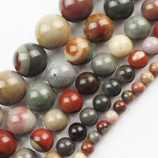 4/6/8/10/12mm Multicolor Picasso Jasper Round Ball Loose Bead 15.5 inch XLZ-768