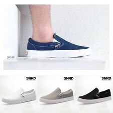 SN148 Street Style Mens Slip On Canvas Sneakers Trainers Casual Skate Boat Shoes