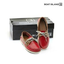 New Boat Island Red Leather Deck Shoes Womens Boat Shoes Driving Moccasin Loafer
