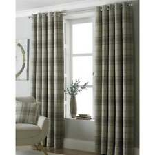 Riva paoletti Aviemore natural check readymade eyelet curtains