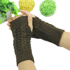 New Style Women Knitted Fingerless Winter Gloves Unisex Soft Warm Mitten 7 Color