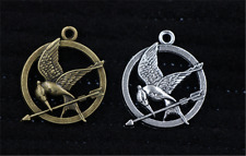 Antique Silver/Bronze Lovely bird Jewelry Finding Charms Pendant 30x25mm