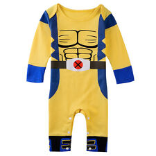 Baby Boys Wolverine Costume Romper Infant Toddler Playsuits