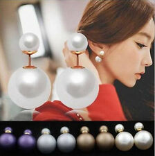 1 Pairs Hot New Ear Studs Design  Man Made Earrings  Fashion  Double Pearl