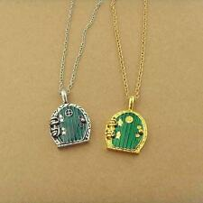 New Fashion Retro Green Door Locket Pendant Chain Necklace Movie Jewelry Gift ZD