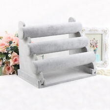 3-Tier Bar Bracelet Watch Table Jewelry Organizer Holder Rack Stand Display LOT