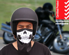 Open Face Helmet + Skull Face Mask 4 Harley Cruiser Motorcycle Chopper Bicycle