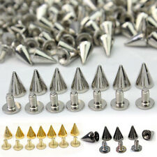 100 PCS Trendy 10MM Silver Spots Cone Screw Metal Studs Rivet Bullet Spikes