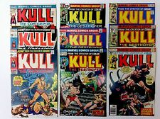 Kull The Conqueror # 1-29, Lot of 9 HIGH GRADE Comics Marvel