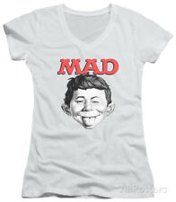 Juniors: Mad Magazine - U Mad V-Neck Apparel Juniors (Slim) T-Shirt - White