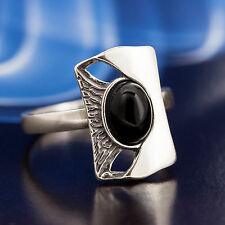 Onyx Silver 925 Ring different sizes P427