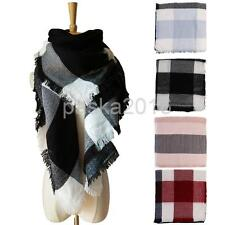 Winter Long Cashmere Tassels Plaid Scarf Scarves Large Shawl Pashmina for Women