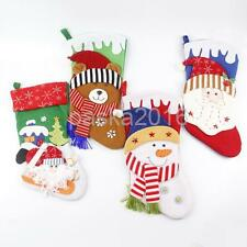 Large Christmas Stocking Sock Hanging Gift Bag Holder Xmas Decoration Kids Gift