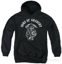 Youth Hoodie: Sons Of Anarchy - Soa Reaper Apparel Pullover Hoodie - Black