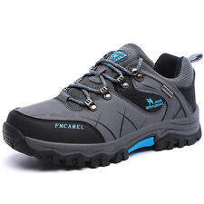 GOMNEAR mens big size trail hiking shoes waterproof shock absorb non slip shoes