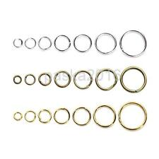 1 Box Mixed Size Iron Plated Open Jump Rings Split Rings for Jewelry Making