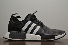 New Men's Adidas x Bape NMD R1 Runner BLACK CAMOUFLAGE  BA7325 IN HAND NOW