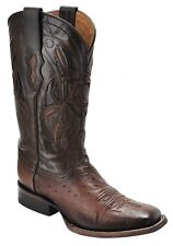 Smooth Ostrich Rodeo Western boots made by Cuadra boots