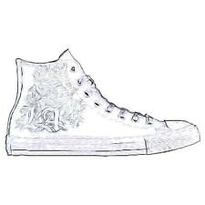 Converse All Star Leather Hi - Men's Basketball Shoes (White - Width:Medium)