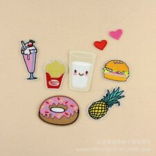 10pcs/set Embroidered patches Acessories Pineapple Hamburg Style Sew/Iron On