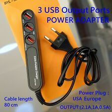 Wholesale Lot 3 USB Output Ports Home Wall AC Charger Adapter For ALL USB Cable