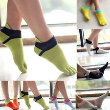 High Quality Women Comfortable Sport Ankle  Protect Foot Five Fingers Toe Socks