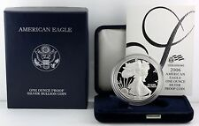 2006 W American Silver Eagle - One Ounce PROOF $1 Dollar - Coin Display Box COA