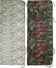 "Camouflage Rip-Stop Woobie Poncho Liner With Zipper - 62"" x 82"""