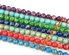 10mm rainbow sea sediment jasper beads round loose gemstone beads supply 15''