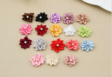 Ribbon Appliques Craft/Trim 50PCS NEW DIY Flower HOT Satin Crystal Bead with
