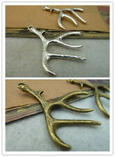5/15pcs 51x37mm Retro Style alloy Charms fine lovely Small antler charm Pendant