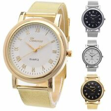 Fashion #LE Unisex UltraThin Stainless Steel Band Quartz Wrist Watch