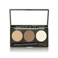 Set 3 Colors Eye Brow Eyebrow Powder Brush Palette Shading Tool Makeup Comestic