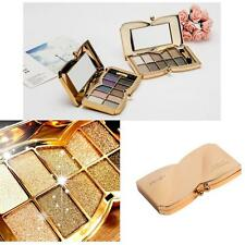 10 Colors Shimmer Glitter Diamond Eyeshadow Palette + Cosmetic Brush Makeup Set