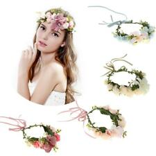 Boho Style Floral Flower Crown Headband Hairband Hair Garland Wedding Headpiece