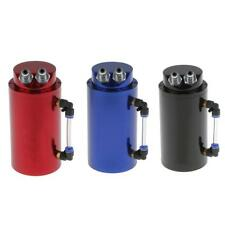 Aluminum Car Racing Oil Catch Tank Round Can Oil Reservoir Turbo Engine