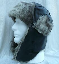 Winter Man Women Hat Ear-flap Trooper Trapper Hunting Cap Faux Warm Fur Snow Ski