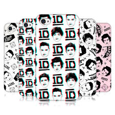OFFICIAL ONE DIRECTION DOODLE FACE PATTERNS HARD BACK CASE FOR APPLE iPHONE 4 4S