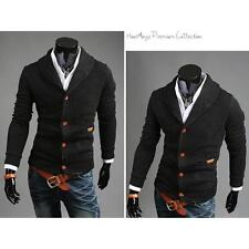 Fashion Men Slim Fit V-neck Knitwear Pullover Cardigan Sweater Jacket Coat Tops