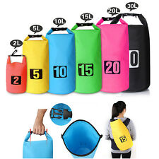 2-30L Waterproof Dry Bag Water Resistant Canoe Floating Boating Kayaking Camping