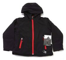BOYS' SPYDER PATSCH INSULATED SOFTSHELL JACKET 125502-001 BLACK (MSRP $129)