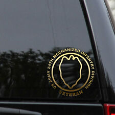 US Army 24th Infantry Decal Sticker Division Veteran First Car Window Laptop