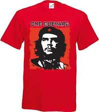 T Shirt im Red tones with Tattoo Gothik motif Model Che Guevara