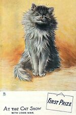 """Cat Show First Prize, At The Cat Show With Louis Wain Print, Cat Art 4x6""""-16x24"""""""