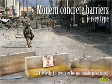 Built & Painted Diorama Accessories, 1:35 Concrete Barriers, Jersey Type (Iraq)