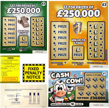 FAKE JOKE LOTTERY SCRATCH CARDS - BEST IN THE UK - BONUS JOKES