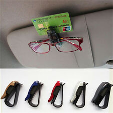 Fashion Car Vehicle Sun Visor Sunglasses Eye Glasses Card Pen Holder Clip Car SU