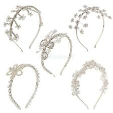 Prom Pageant Bridal Crystal Pearl Hairband Tiara Headband Wedding Headpiece Gift