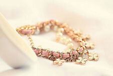 Pearl Bracelet Beautiful Leather 2016 Chain Clover New Four Leaf Rope Womens